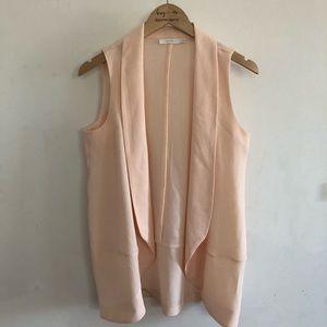 Lush blush pink vest size M